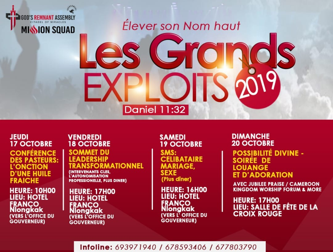 God's Remnant Assembly organise Les Grands Exploits 2019