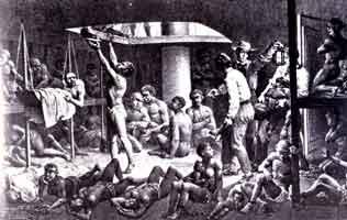Esclaves dans un navire négriers
